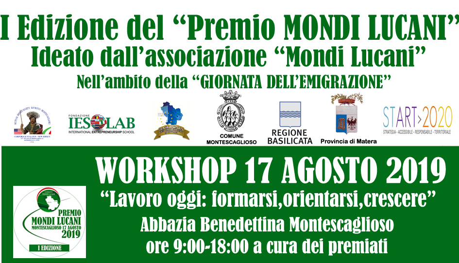 FOTO HOME WORKSHOP PREMIO MONDI LUCANI 2019