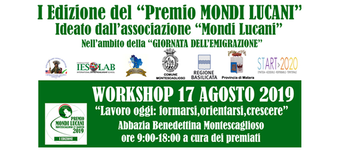 SLIDE WORKSHOP PREMIO MONDI LUCANI